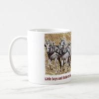 Percheron Draft Horse Farm Wagon Buckboard mug