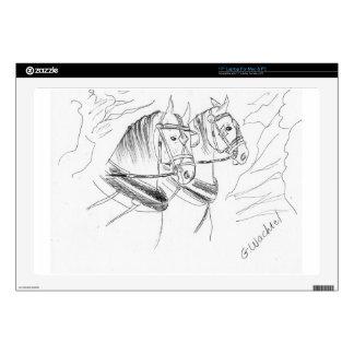 Percheron Draft horses Laptop Skin