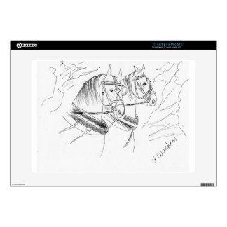 Percheron Draft horses Laptop Decals