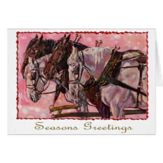 Percheron Holiday Card