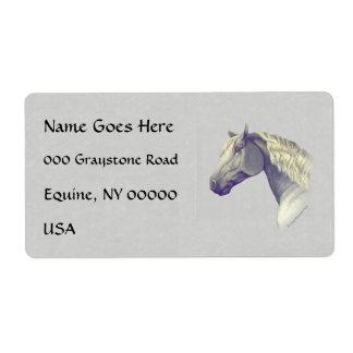 Percheron Horse Head Label
