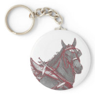 Percheron Horse Key Chain