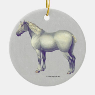 Percheron Horse Christmas Ornament