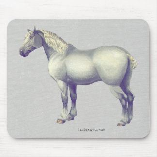 Percheron Horse Painting Mouse Pad