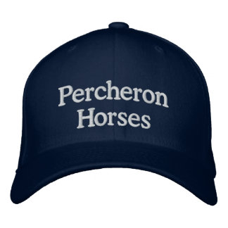 Percheron Horses Embroidered Hat