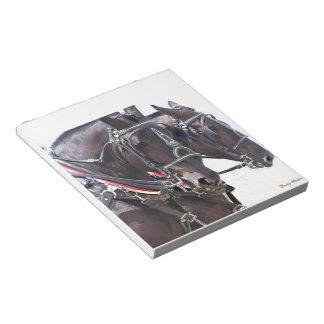 Percheron Horses Scratch Pad