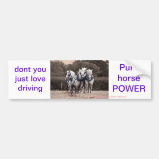 Percheron team ploughing bumper sticker
