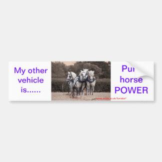 Percheron team ploughing car bumper sticker