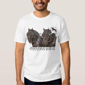 Percheron Wannabe Friesian Draft Horse T Shirt