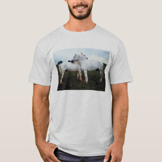 Percherons Grooming Each Other T-Shirt