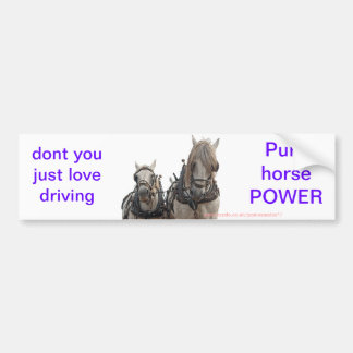 Percheron's ploughing bumper sticker