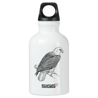 Perching American Bald Eagle Illustration Water Bottle