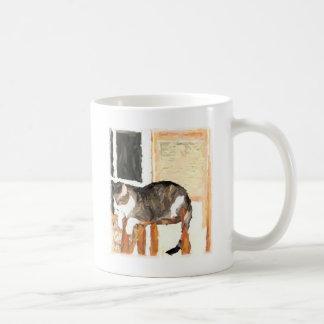 Perching Cat Digital Photograph Coffee Mug