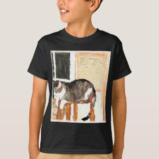 Perching Cat Digital Photograph T-Shirt