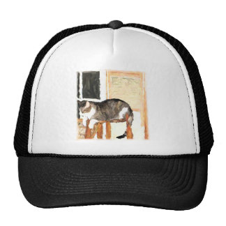 Perching Cat Digital Photograph Trucker Hat
