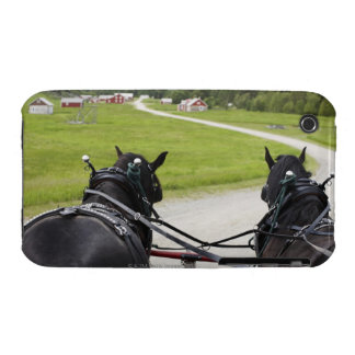 Perchon horses pulling cart  against historic Case-Mate iPhone 3 case