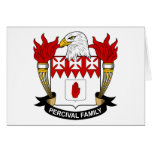 Percival Family Crest Greeting Card