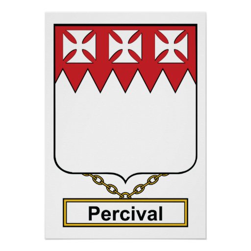 Percival Family Crest Posters
