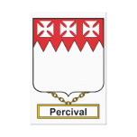 Percival Family Crest Stretched Canvas Prints