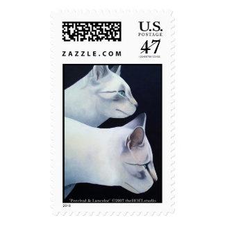 Percival & Lancelot Postage Stamp