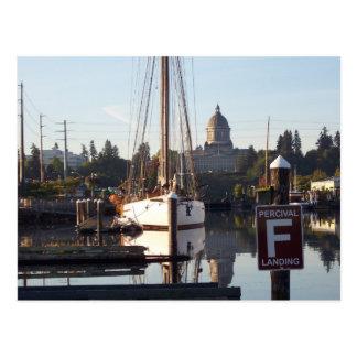 Percival Landing Postcard, Olympia, Washington. Postcard
