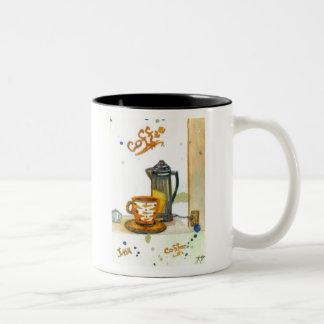 Percolatin' Some Coffee - cricketdiane coffee mugs