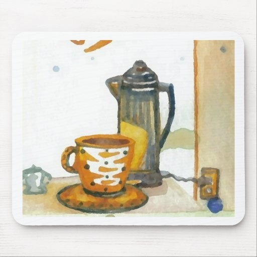 Percolating Some Coffee  CricketDiane Coffee Art Mouse Pad