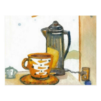 Percolating Some Coffee  CricketDiane Coffee Art Postcard