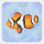 Percula Anenomefish Square Stickers
