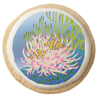 Percula Clown Fish Coral Reef Cookies Round Premium Shortbread Cookie