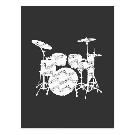 Percusión de los tambores postal