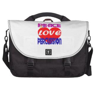 Percusión del amor de la paz bolsas de portátil