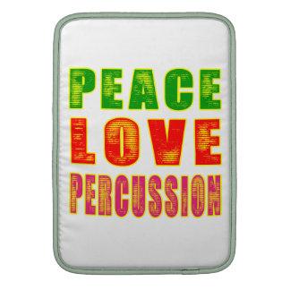 Percusión del amor de la paz funda macbook air