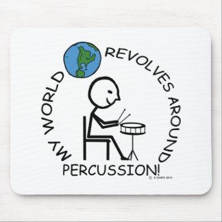 Percusión - el mundo gira alrededor mousepads