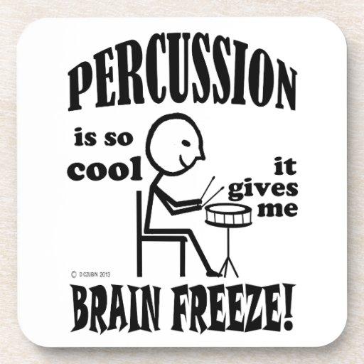 Percusión, helada del cerebro posavaso