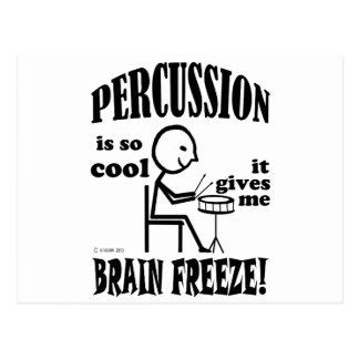 Percussion, Brain Freeze Post Card