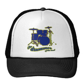 percussion drums ~ drummer trucker hat