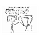 Percussion Insults Postcard