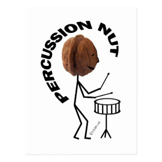 Percussion Nut Postcard