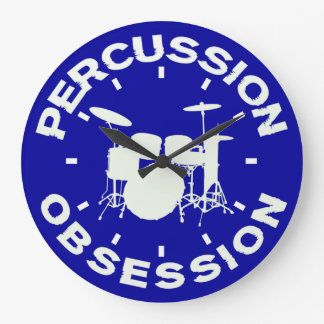 Percussion Obsession Large Clock