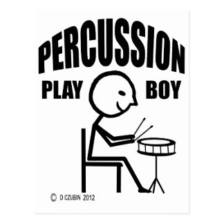Percussion Play Boy Post Cards
