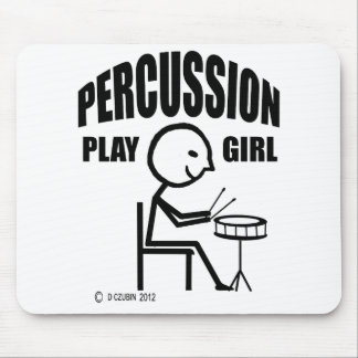 Percussion Play Girl Mouse Pad