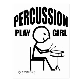 Percussion Play Girl Post Cards