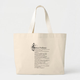 Percussion Problems List Large Tote Bag