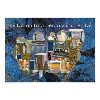 Percussion Recital Invitation