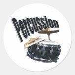 Percussion/ Snare Classic Round Sticker