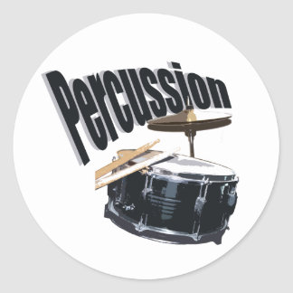 Percussion/ Snare Classic Round Sticker