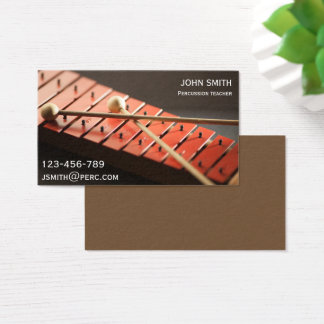 Percussion Teacher or tutor with xylophone Business Card