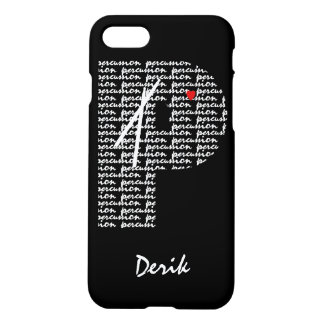 Percussion Text Letter P iPhone 8/7 Case