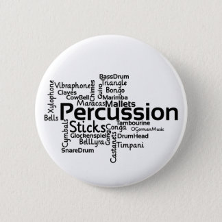 Percussion Word Cloud Black Text Button